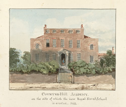 Counter-Hill Academy on the site of which the new Royal Academy School is erected